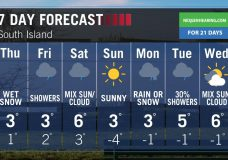 Yet another snowfall warning issued for parts of Vancouver Island