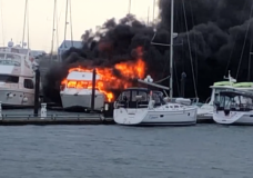 No injuries after boat catches fire at Port Sidney marina
