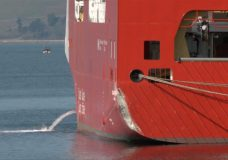 New Coast Guard vessel being tested strikes Ogden Point breakwater