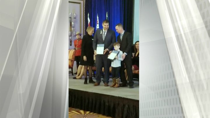 Six-year-old Colwood boy who helped save mom from ocean receives award
