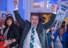 'It's almost a surreal experience,' Progressive Conservative Party Leader Dennis King said when he won his own seat. (Brian McInnis/CBC)
