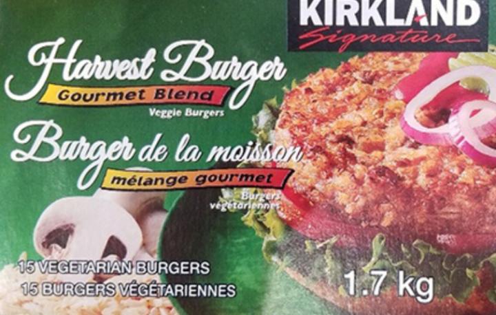 Kirkland Signature brand Harvest Burger - Veggie Burgers (Photo: CFIA)