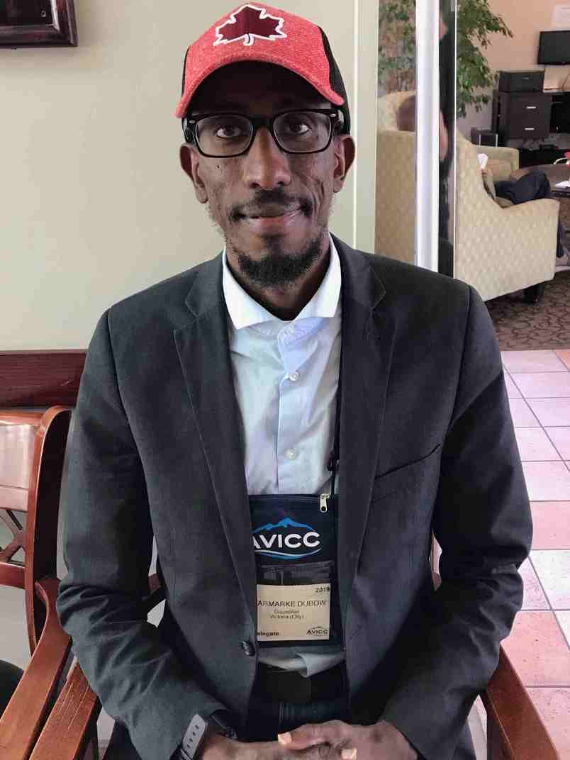 Dubow at the AVICC conference this weekend (Photo: Sharmarke Dubow)
