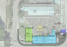 The concept design of a fitness gym expansion, with a separate movement studio and child minding room, at the SEAPARC Leisure Complex. Photo courtesy the Capital Regional District.