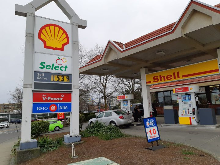 Gas prices rising past $1.50 a litre across Greater Victoria and getting close to beating record