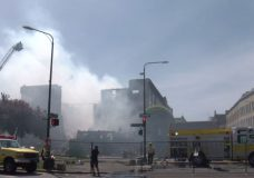 Experts advise to avoid toxic smoke near downtown Victoria Plaza Hotel fire