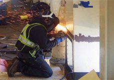 Spirit of British Columbia repairs under way. Photo courtesy BC Ferries.