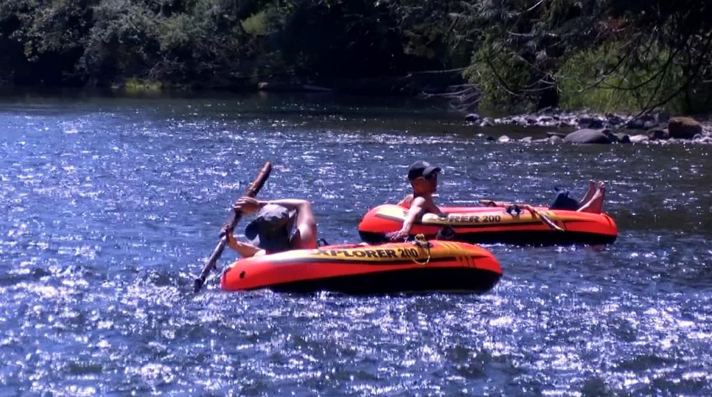 Tubers are seen on the Cowichan River in a previous summer in this file photo. Tubing is allowed with enhanced protocols this summer.