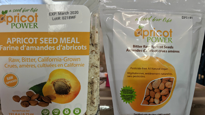 Apricot Power brand Bitter Raw Apricot Seeds and Apricot Seed Meal have both been recalled due to cyanide poisoning concerns (Photo: CFIA)