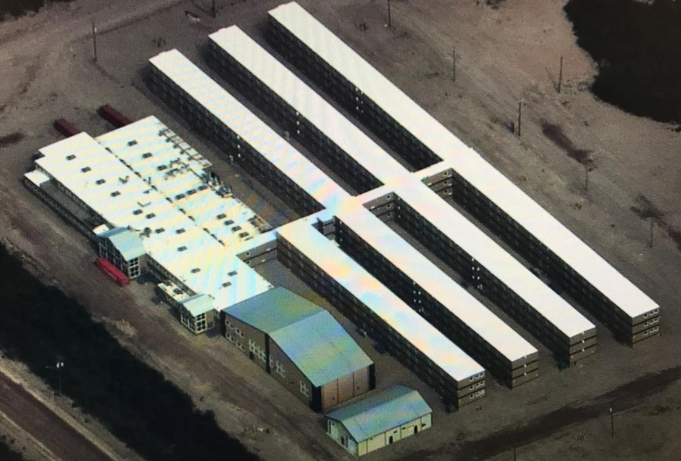 The Keewatinohk Converter Station Camp near Gillam is one of the buildings officers are tasked with clearing. It has 600 rooms (Photo: Manitoba RCMP)