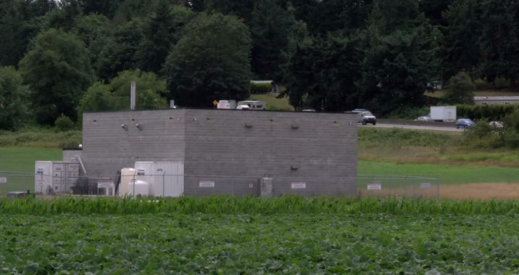 A windowless concrete building designed to grow cannabis is just off the Patricia Bay Highway, near Island View Road, in Central Saanich.