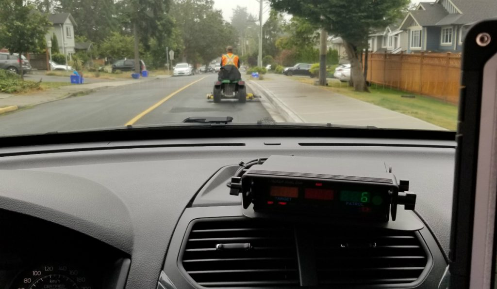 Ride-on lawn mower stolen, used to damage school property in Saanich