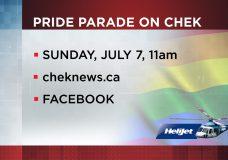The 26th Annual Victoria Pride Parade Livestream on CHEK