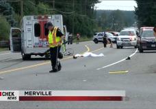 Elderly cyclist dies in Merville crash
