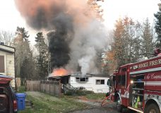 Mobile home likely to be torn down after fire in Sooke
