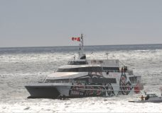 SOS in Ross Bay sees Coast Guard vessels; V2V Empress respond