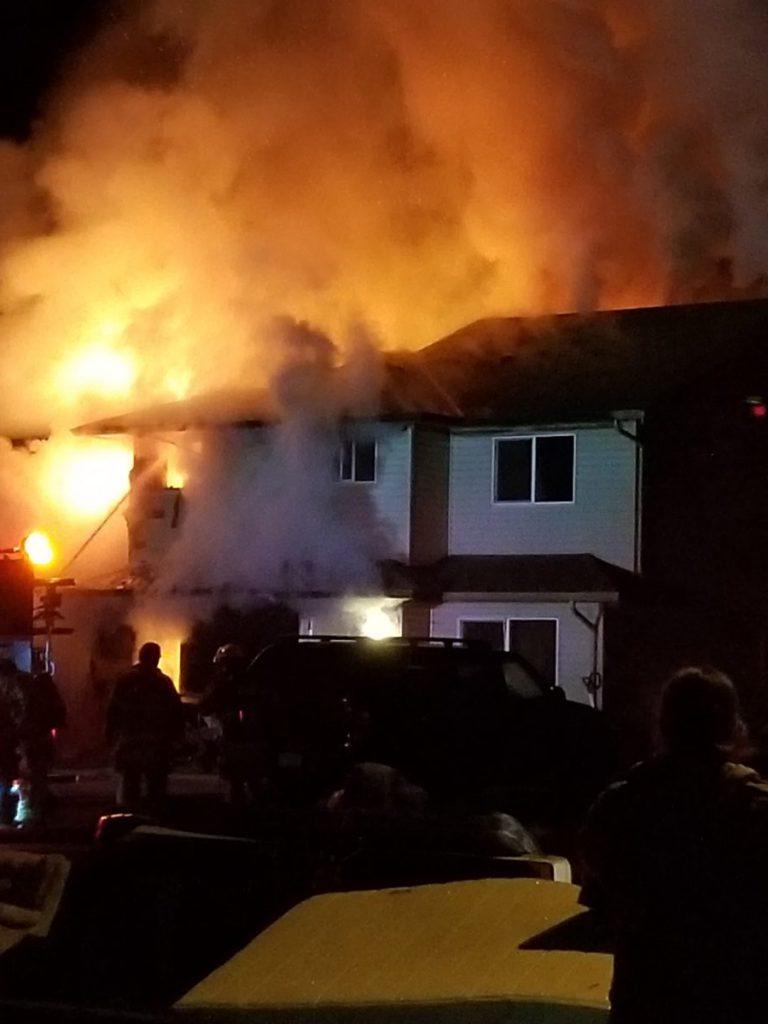 Fire destroys Duncan-area duplex