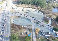 Lane closures and lack of working lights at McKenzie Interchange causes Friday morning traffic headaches