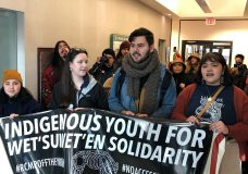 Dozens of Indigenous youth arrested early Wednesday morning after occupying government buildings in Victoria overnight.