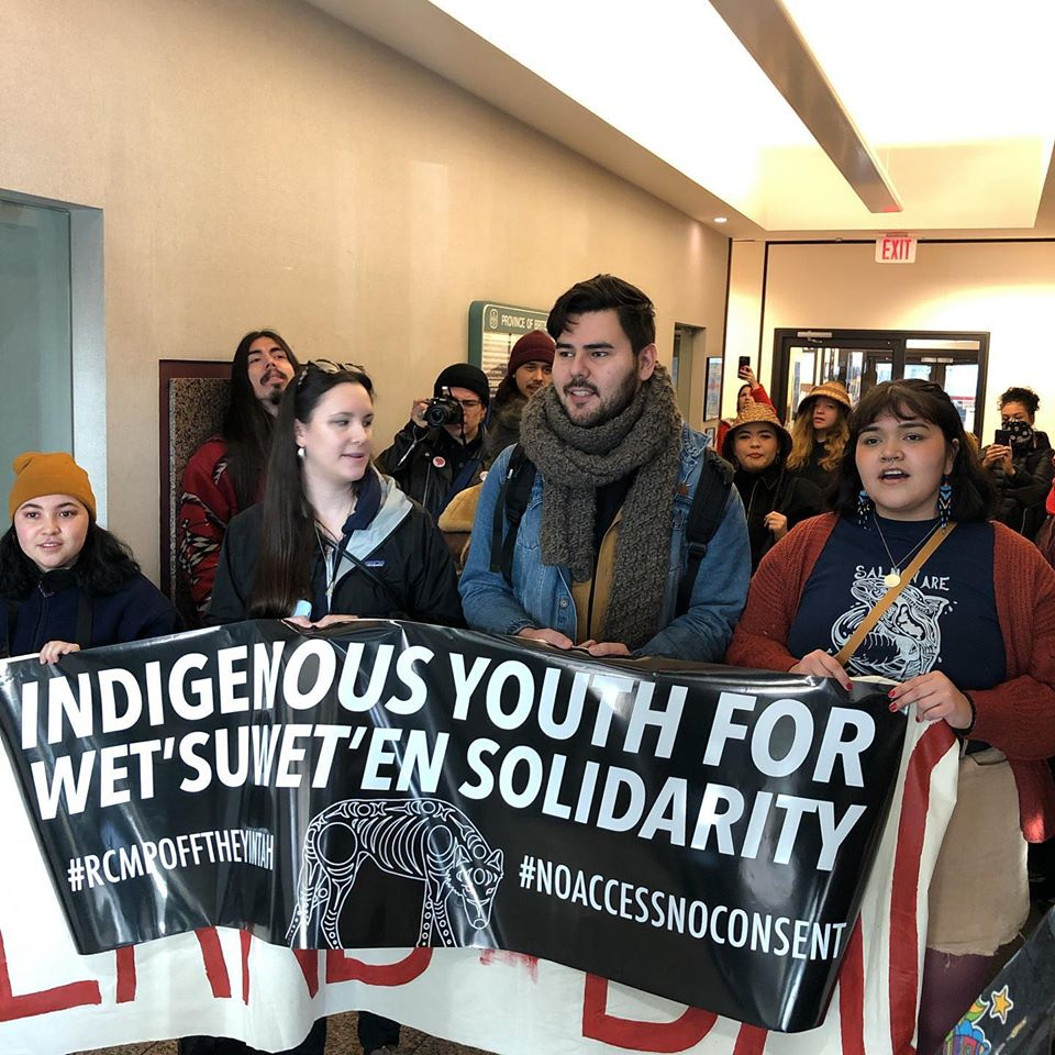 A dozen young Indigenous protestors arrested after occupying government buildings overnight