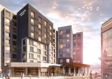 An artist's rendering of the new Nanaimo hotel.
