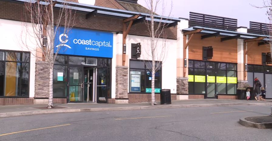 The Coast Capital Savings branch at Broadmead Village Shopping Centre.