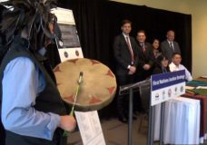 A new First Nations justice strategy is introduced on March 6, 2020 in Nanaimo.