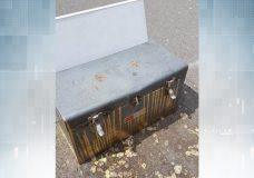 A photo of the toolbox dropped off at a Fernwood basketball court on April 30, 2020.