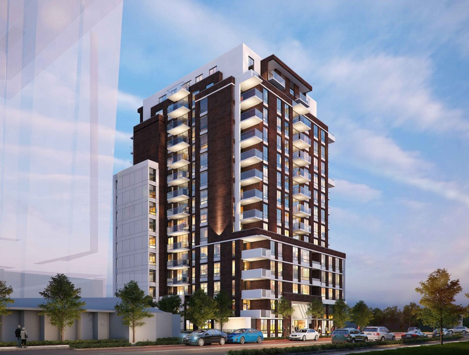 16-storey rental building proposed at the corner of Pandora Avenue and Vancouver Street in Victoria.