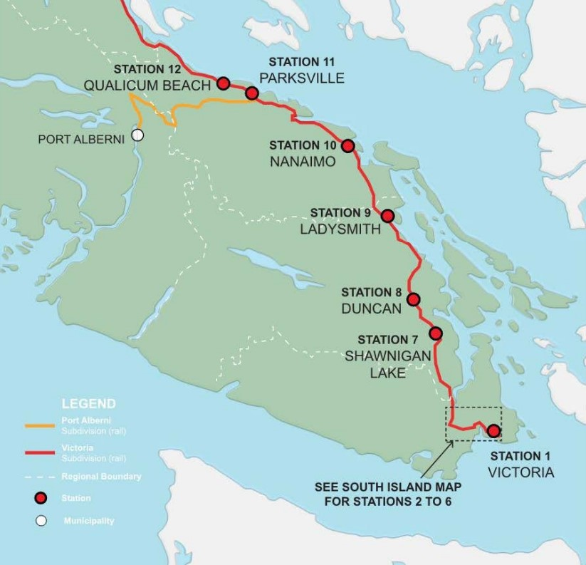 A look at the Island Rail corridor (Ministry of Transportation and Infrastructure)