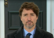 Prime Minister Justin Trudeau making an announcement