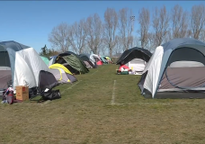 Tents for homeless seen at Topaz Park in Victoria might be there for longer than expected.