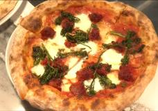 A pizza at Faro in Oak Bay.
