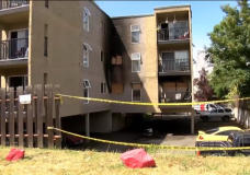 Three people and a cat rescued from early morning apartment fire in Victoria
