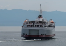 The MV Coho ferry sails in Victoria in this file photo.