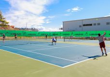 A tennis court in Saanich will soon be available for the public, as Saanich reopens various recreational outdoor facilities