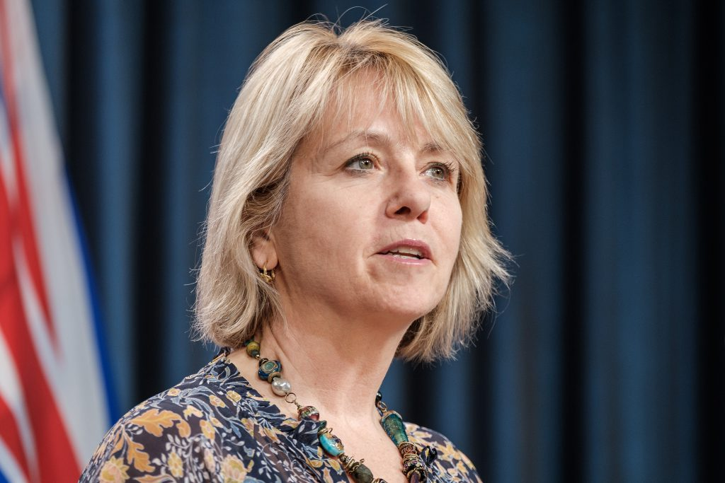 Chief Provincial Health Officer Dr. Bonnie Henry provides an update on COVID-19 on May 14, 2020. (Province of BC)