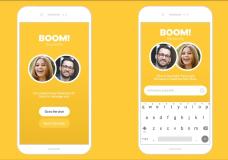 The Bumble app, one of many online dating options.