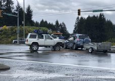 One person seriously injured after Highway 1 crash near Cobble Hill