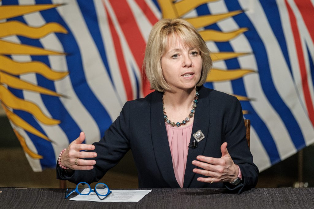 Dr. Bonnie Henry talks about B.C.'s Restart Plan on May 6, 2020.