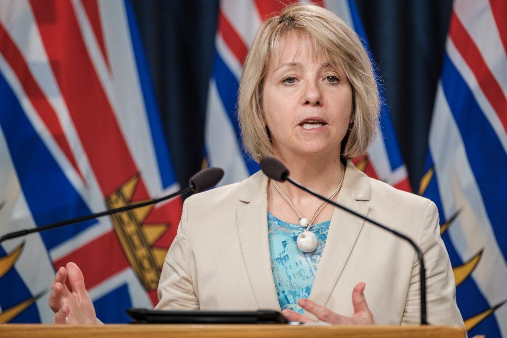 Provincial Health Officer Dr. Bonnie Henry announces an extensive surgical renewal plan that will address surgeries that were postponed due to the COVID-19 pandemic on May 7, 2020. (Province of BC)