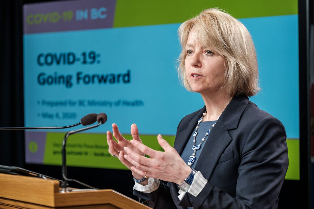 Chief Provincial Health Officer Dr. Bonnie Henry provides an update on COVID-19 on May 4, 2020. (Province of BC)