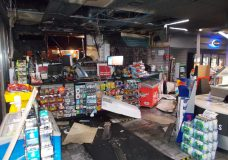 Flare fired by teens inside Nanaimo convenience store causes extensive damage, police say