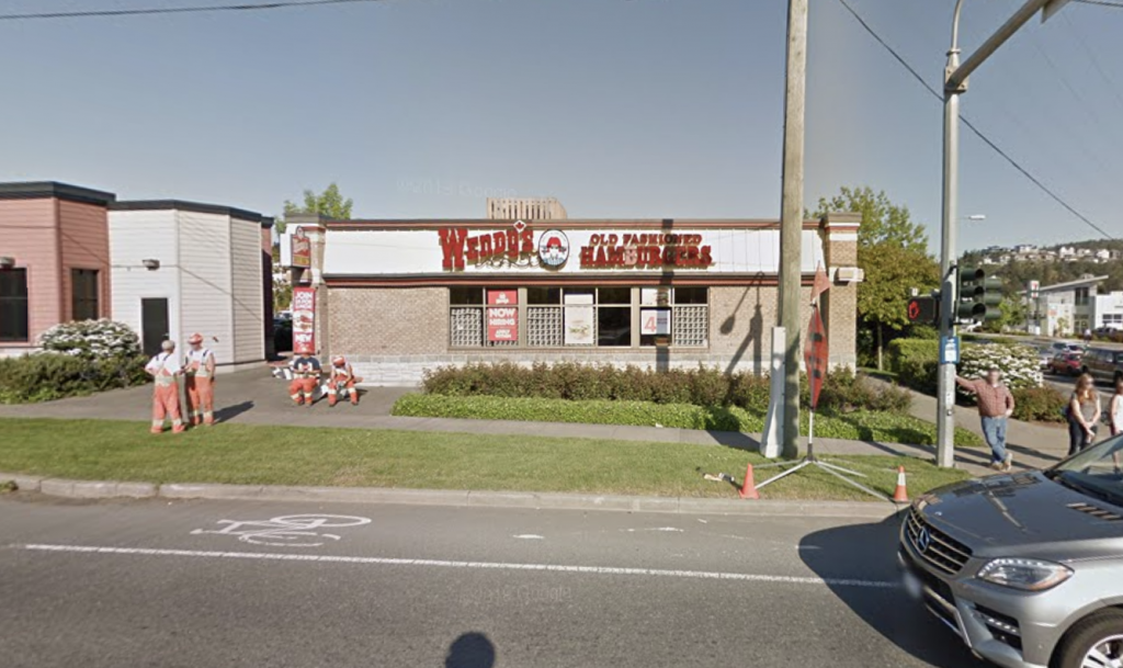 The Wendy's on the Old Island Highway in Colwood