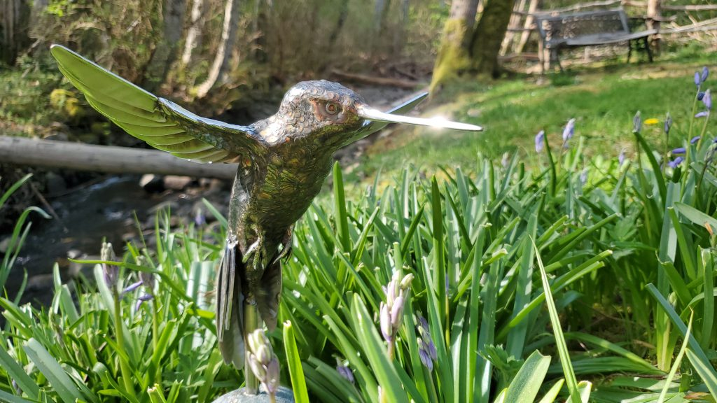 'She was absolutely thrilled:' Island artist gifts Dr. Bonnie Henry handmade hummingbird sculpture