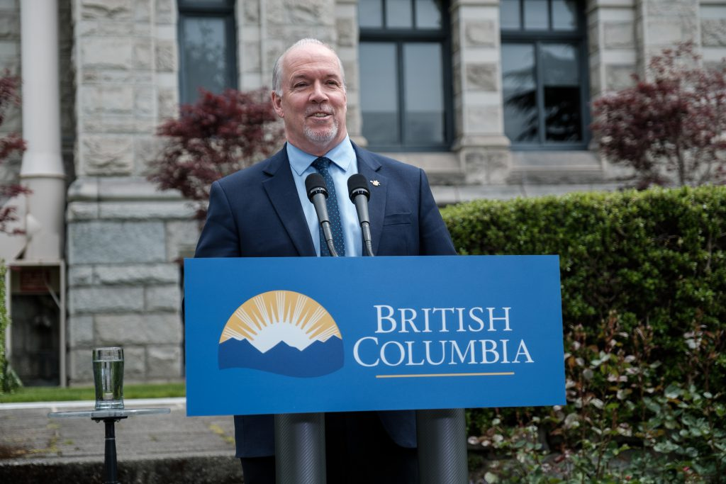 Premier John Horgan provides a weekly update on June 10, 2020 (Province of BC)