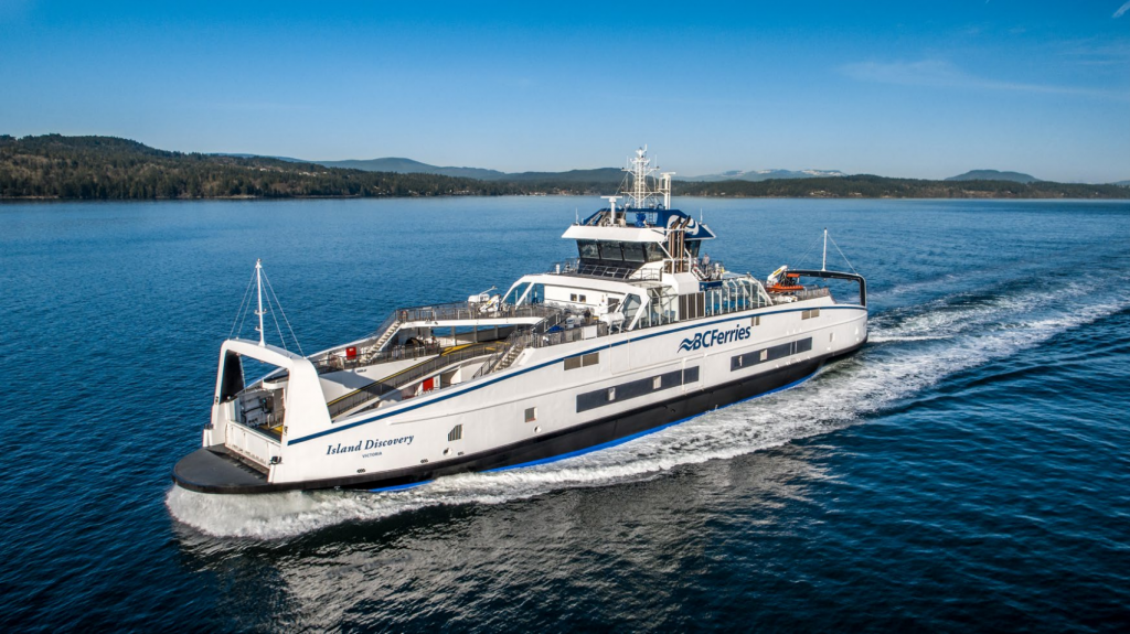 BC Ferries' new hybrid-electric vessel, Island Discovery. (BC Ferries)