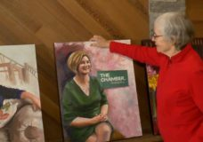 Local artist painting portraits of female community leaders to support Our Place