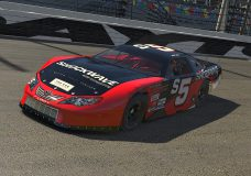 A virtual Shockwave race car that, one of the many iRacing participants in a series t Wester Speedway