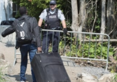 Asylum seekers who tried to cross from U.S. last month turned back
